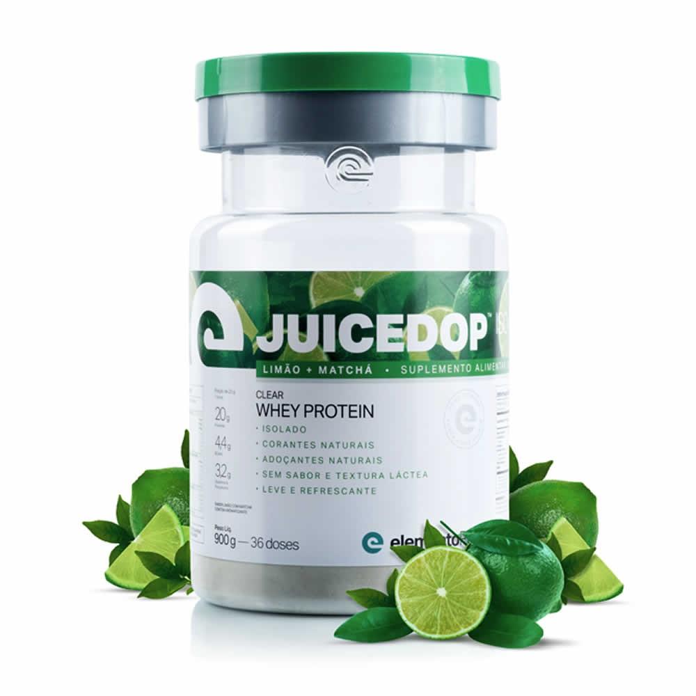 Juicedop Iso Clear Whey Protein Isolado 900g Elemento Puro - Limão com Matchá