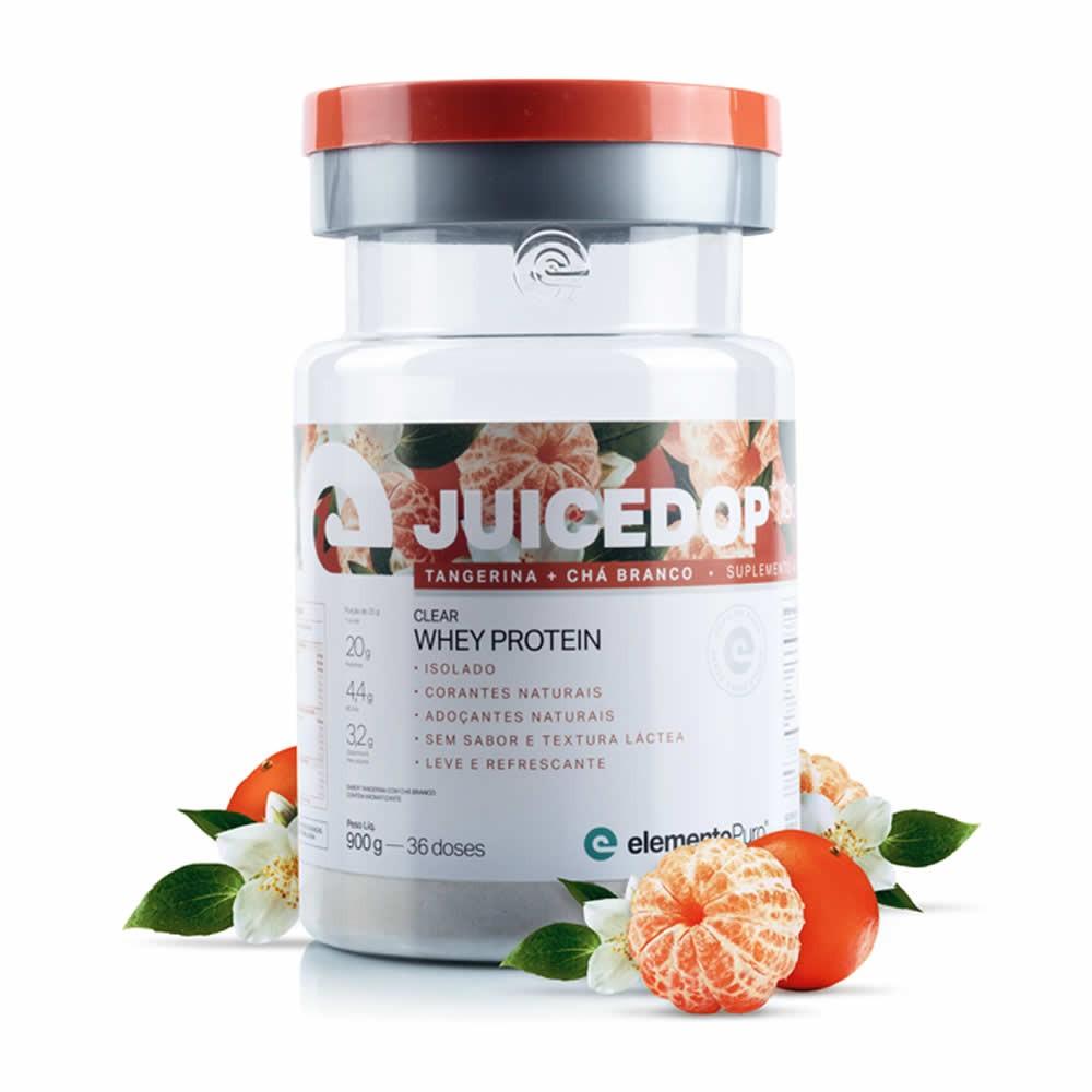 Juicedop Iso Clear Whey Protein Isolado 900g Elemento Puro - Tangerina com Chá Branco