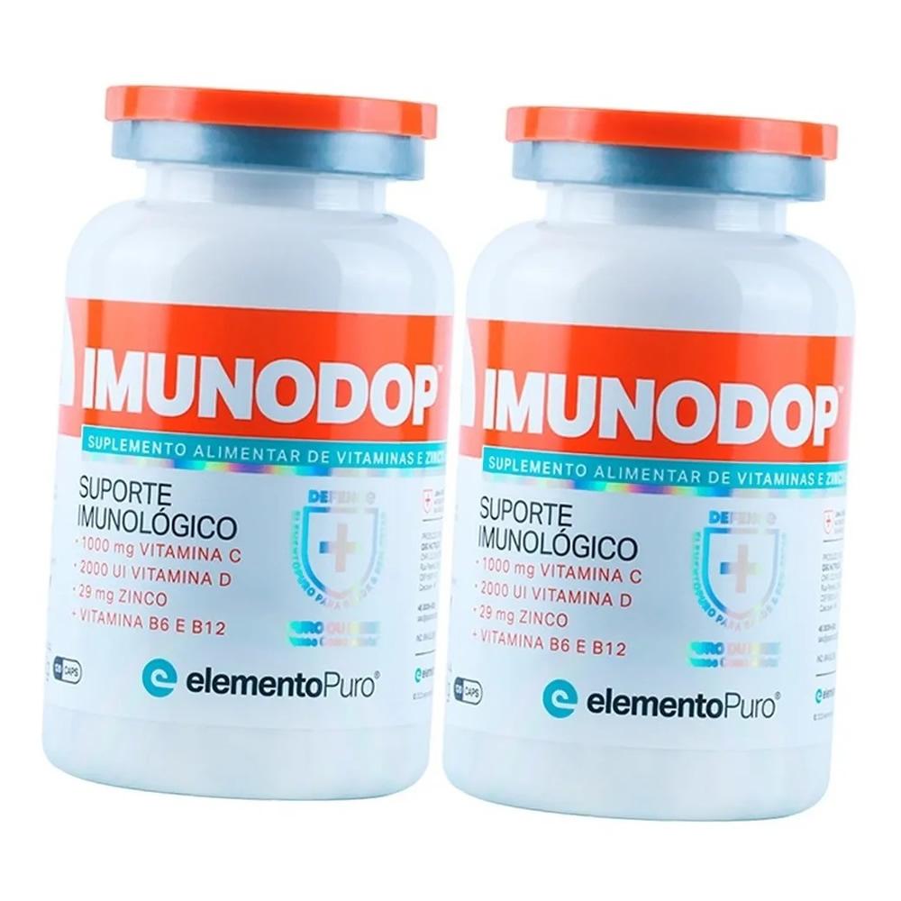 Kit 2x Imunodop Vitaminas e Zinco 240 Cápsulas Elemento Puro