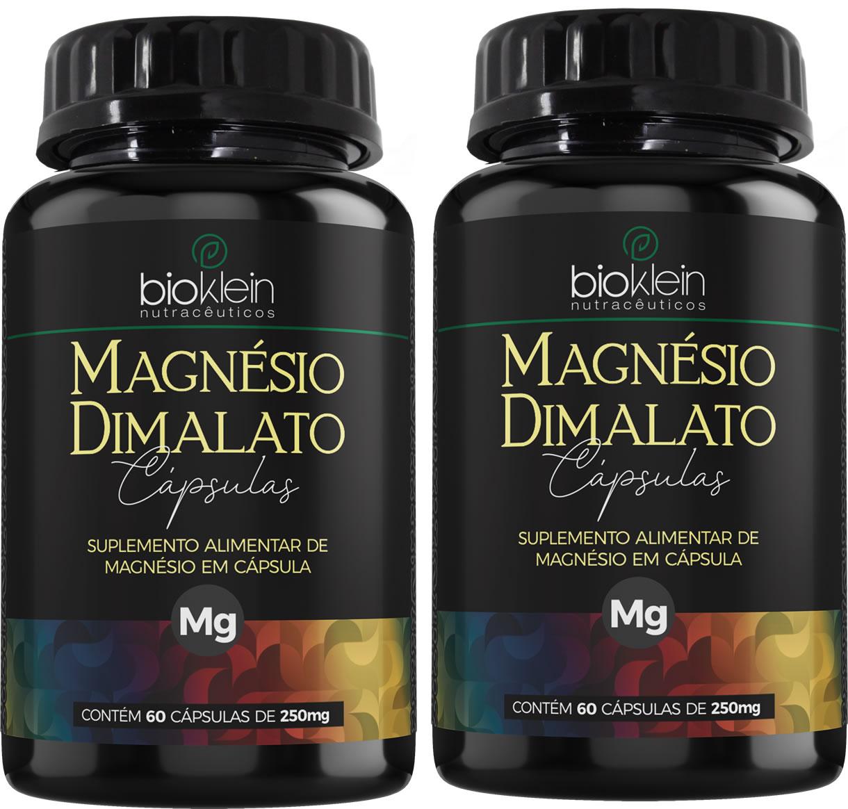 Magnésio Dimalato 130mg 120 Cápsulas (2x60) Bioklein
