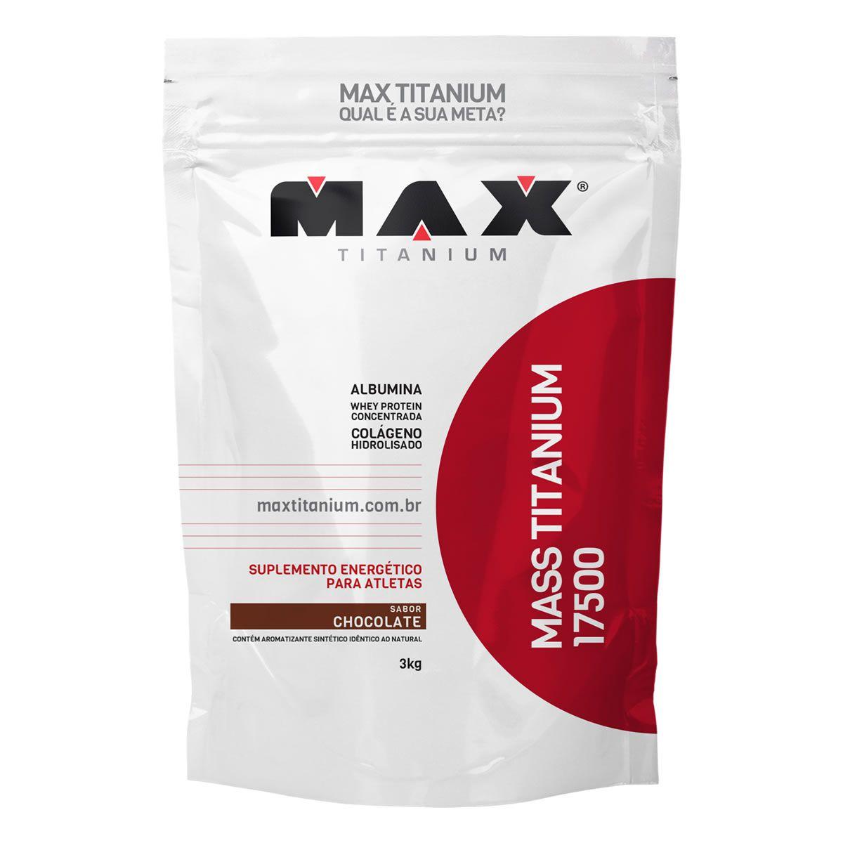 Hipercalórico Mass Titanium 17500 (3kg) Max Titanium