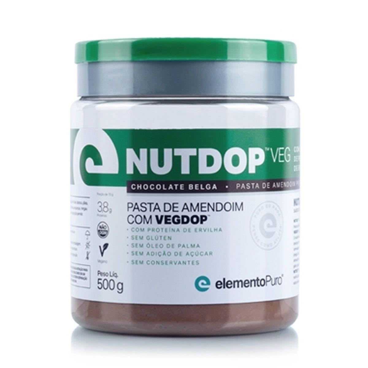 Nutdop Veg Chocolate Belga (500g) Elemento Puro