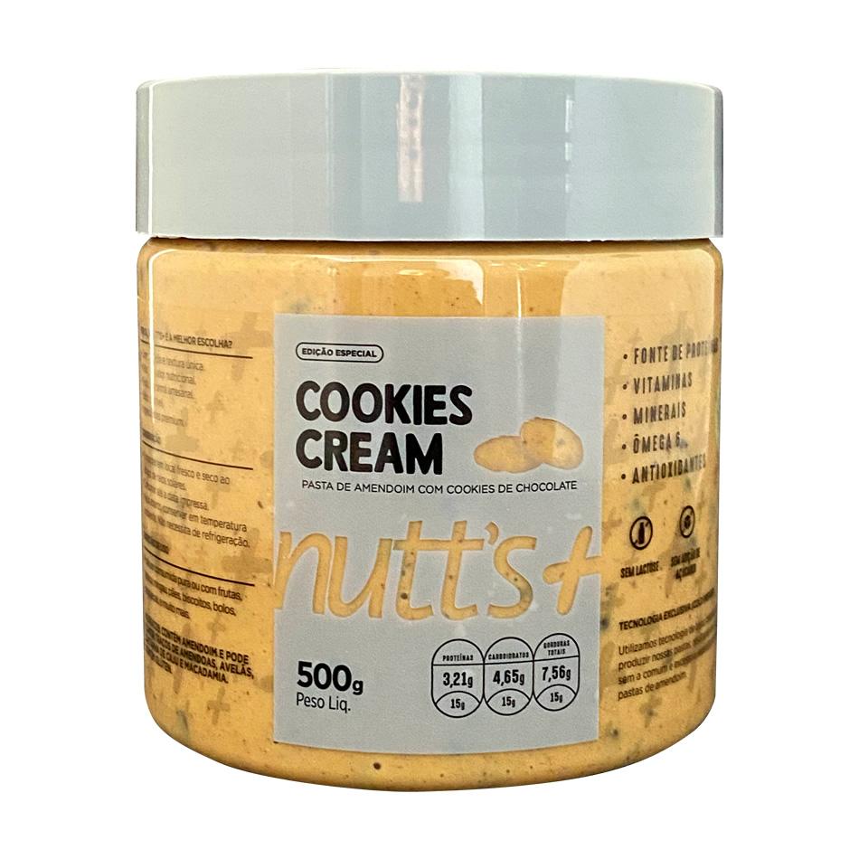 Pasta De Amendoim Gourmet Cookies Cream 500g Nutts Mais