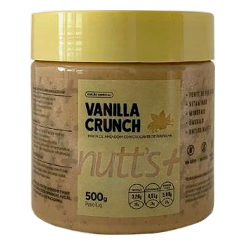 Pasta de Amendoim Gourmet Vanilla Crunch 500g Nutts Mais