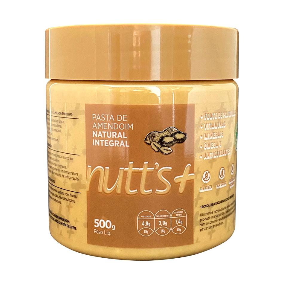 Pasta De Amendoim Natural (500g) Nutts Mais