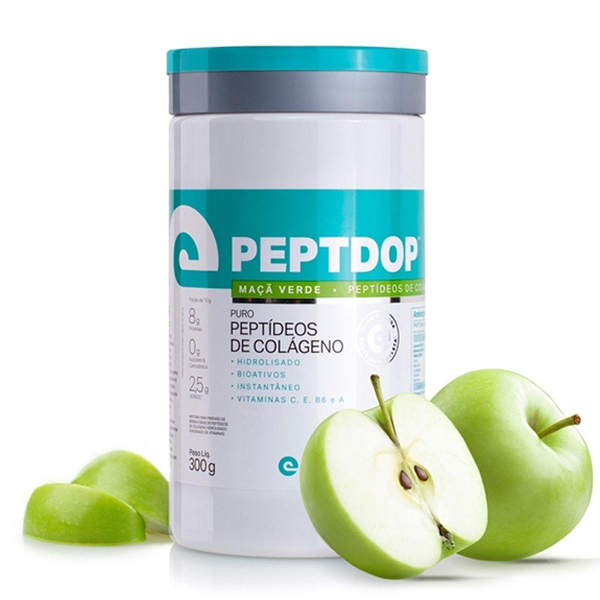 Peptdop Colágeno Hidrolisado 300g Elemento Puro - Maça Verde