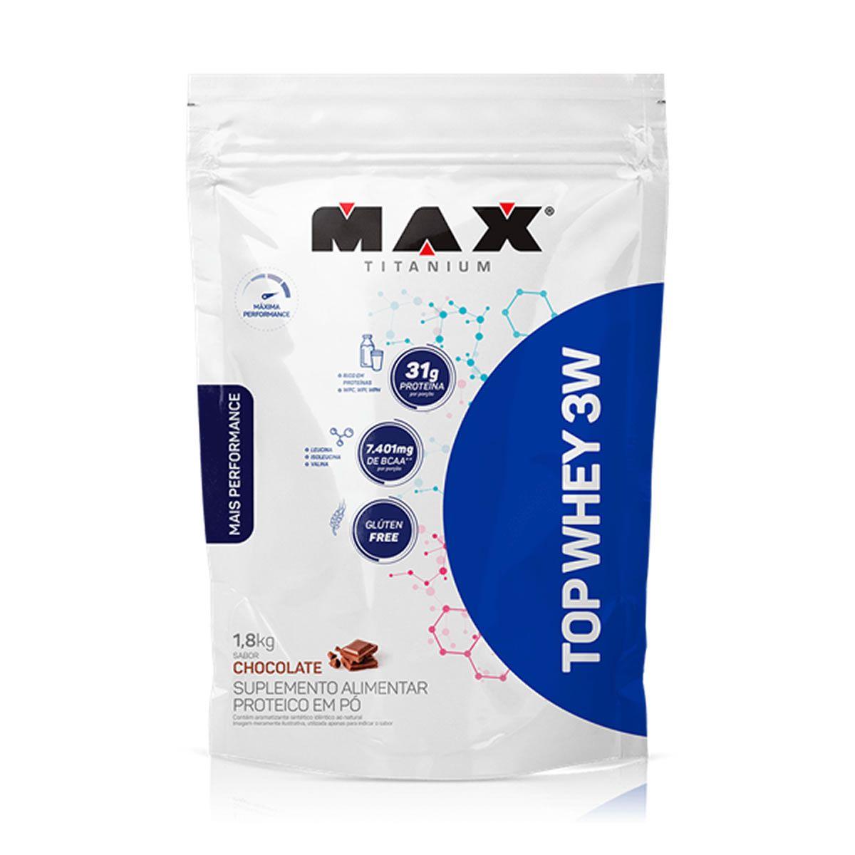 Top Whey 3W + Performance (1,8kg) Max Titanium
