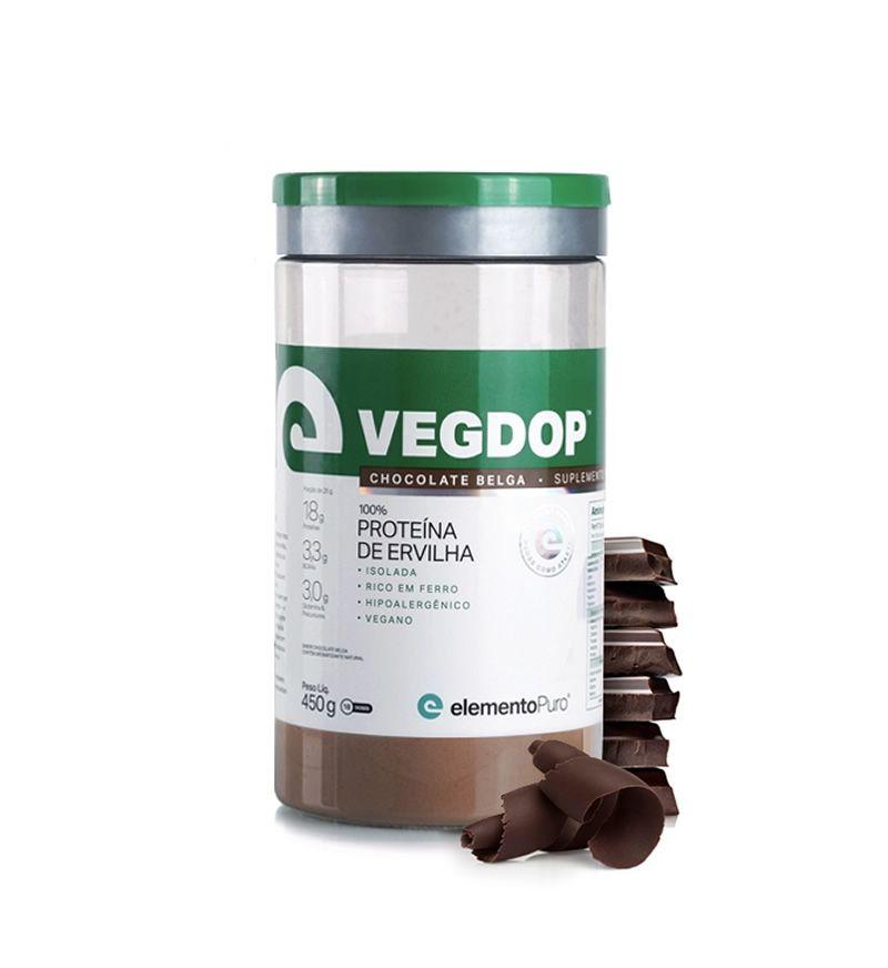 Vegdop Proteína de Ervilha 450g Elemento Puro - Chocolate Belga