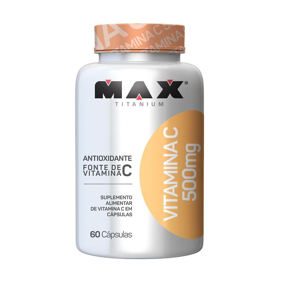 Vitamina C 500mg (60 Cáps) Max Titanium