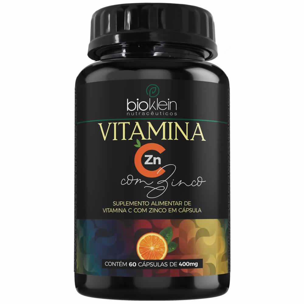 Vitamina C com Zinco 400mg 60 Cápsulas Oleosas Bioklein