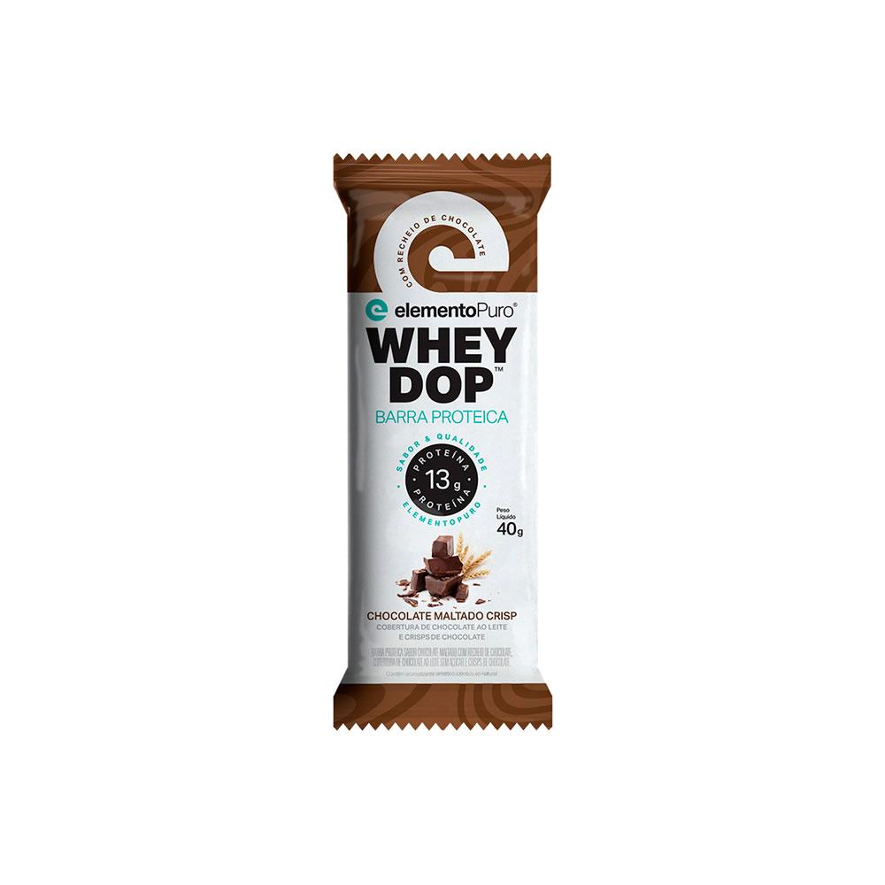 Wheydop Bar 40g Chocolate Maltado Elemento Puro