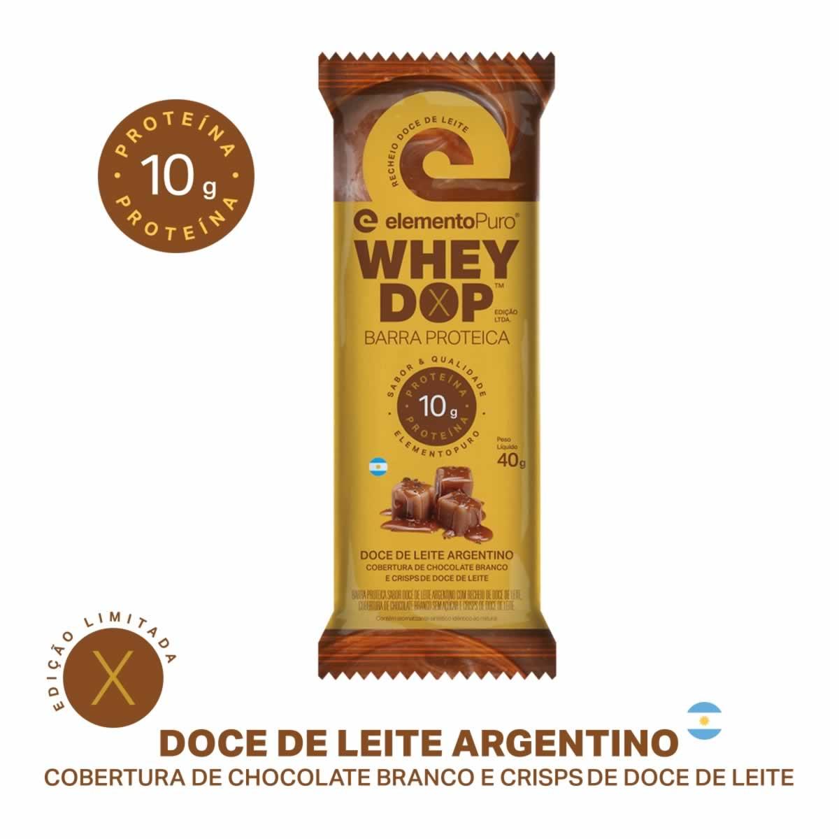 Wheydop Bar X 40g Doce de Leite Argentino Elemento Puro