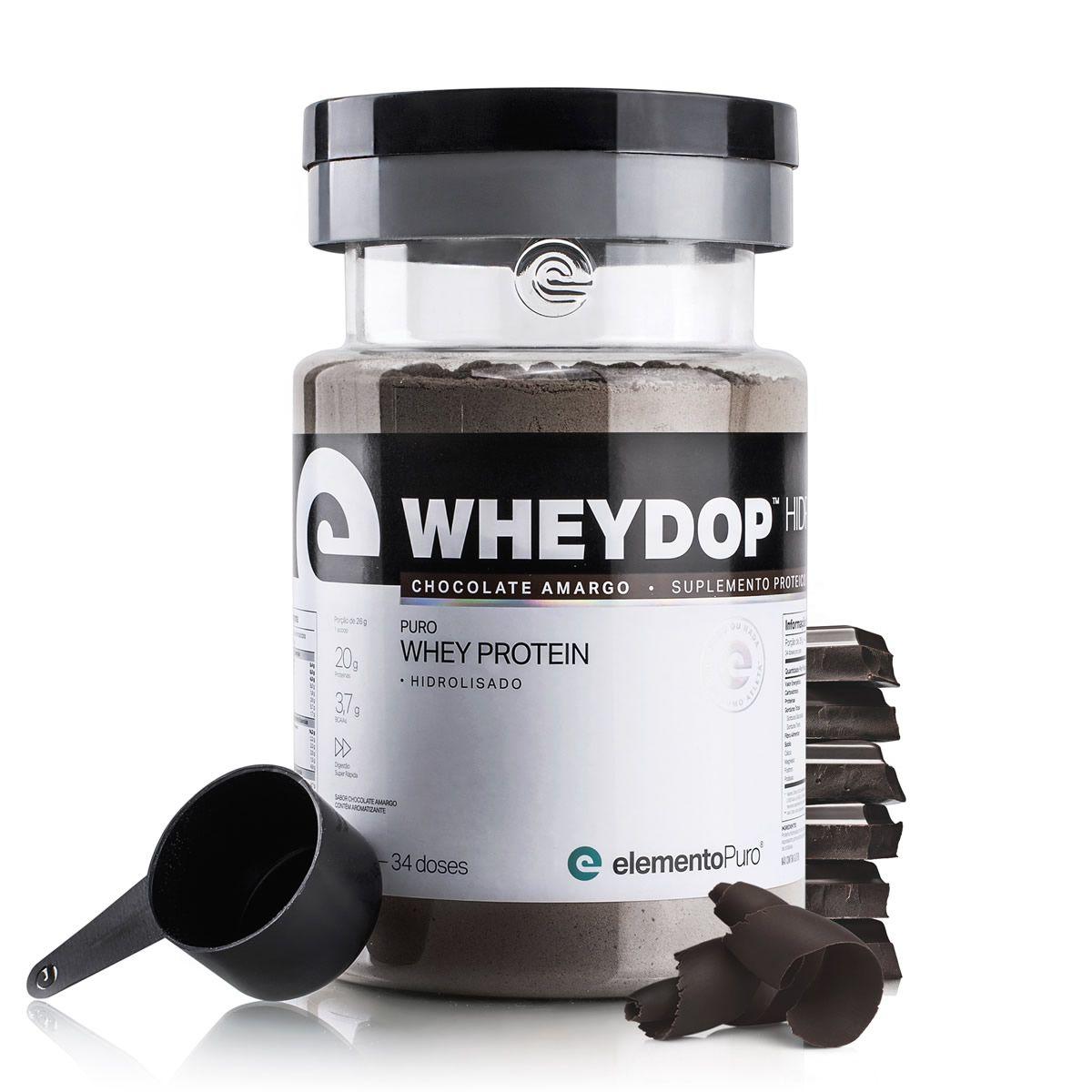 Wheydop Hidro Chocolate Amargo (900g) Elemento Puro