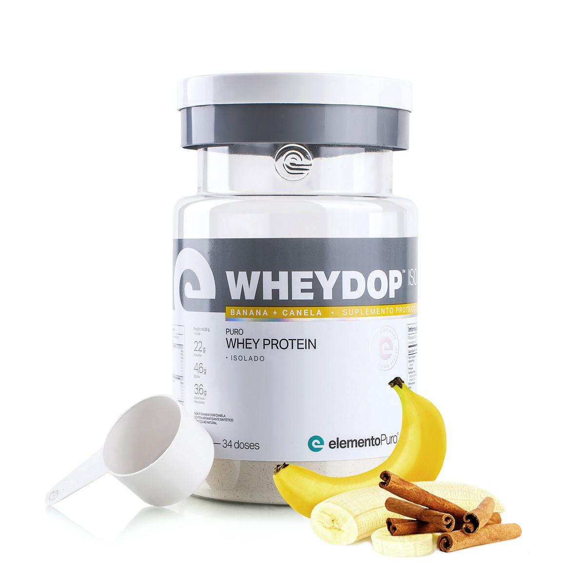 Wheydop Iso 900g Elemento Puro - Banana com Canela