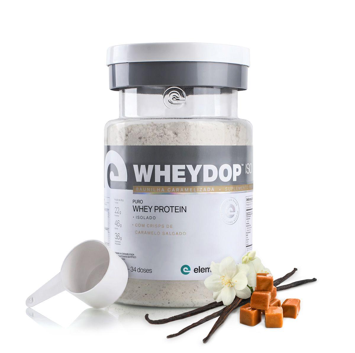 Wheydop Iso 900g Elemento Puro - Baunilha Caramelizada