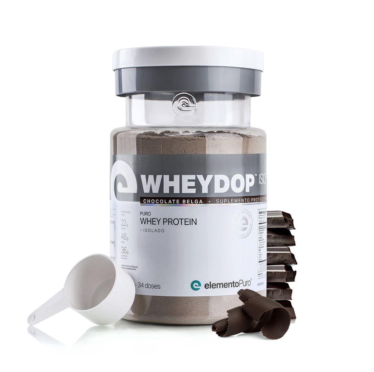 Wheydop Iso 900g Elemento Puro - Chocolate Belga