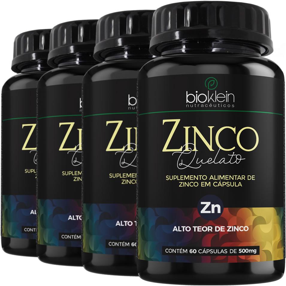 Zinco Quelato Imunidade 29mg 240 Cápsulas (4x60) Bioklein