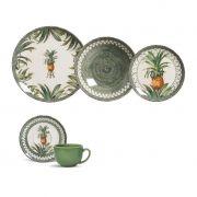 Aparelho de Jantar 30 peças Abacaxi Porto Brasil Pineapple Green