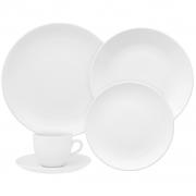 Aparelho de Jantar Branco em Porcelana 20 Peças Oxford Coup White - 4 Lugares