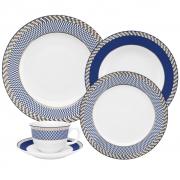 Aparelho de Jantar em Porcelana 30 Peças Oxford Flamingo Op Art - 6 Lugares