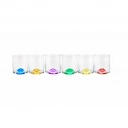 Conjunto de Copos de Cristal Ecológico para Whisky Bohemia Favorit Wave Coloridos 310ml