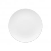 Jogo de Pratos de Sobremesa Brancos Porcelana Oxford Coup White 6 Unidades