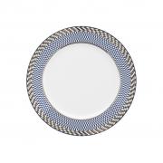 Jogo de Pratos de Sobremesa Porcelana Oxford Flamingo Op-Art 6 Unidades