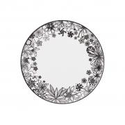 Jogo de Pratos de Sobremesa Porcelana Oxford Floresta Negra 6 Unidades