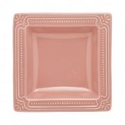Jogo de Pratos Fundos Rosa Porcelana Oxford Vintage 6 Unidades
