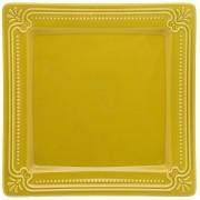 Jogo de Pratos Rasos Amarelo Mostarda Porcelana Oxford Minas 6 Unidades