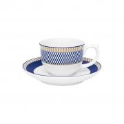Jogo de Xícaras de Cafezinho Porcelana Oxford Flamingo Op-Art 100ml 6 Unidades