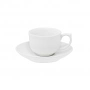 Jogo de Xícaras de Cafezinho Porcelana Oxford Flamingo White 100ml 6 Unidades