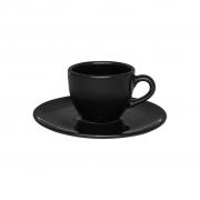 Jogo de Xícaras de Cafezinho Pretas Porcelana Oxford Coup Black 75ml 6 Unidades