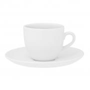 Jogo de Xícaras de Chá Brancas Porcelana Oxford Coup White 200ml 6 Unidades