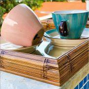 Jogo de Xícaras de Chá de Porcelana Bon Gourmet Watercolor 200 ml 6 unidades