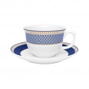 Jogo de Xícaras de Chá Porcelana Oxford Flamingo Op-Art 240ml 6 Unidades