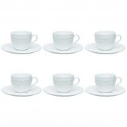 Jogo de Xícaras de Chá Porcelana Oxford Mia 200ml 6 Unidades