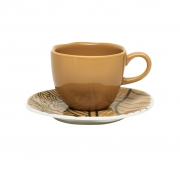 Jogo de Xícaras de Chá Porcelana Oxford Ryo Raízes 6 Unidades