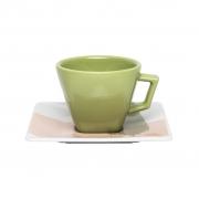 Jogo de Xícaras de Chá Porcelana Oxford Sketch 200ml 6 Unidades