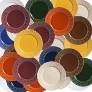 Pratos Rasos Porto Brasil Madeleine Color 6 Unidades