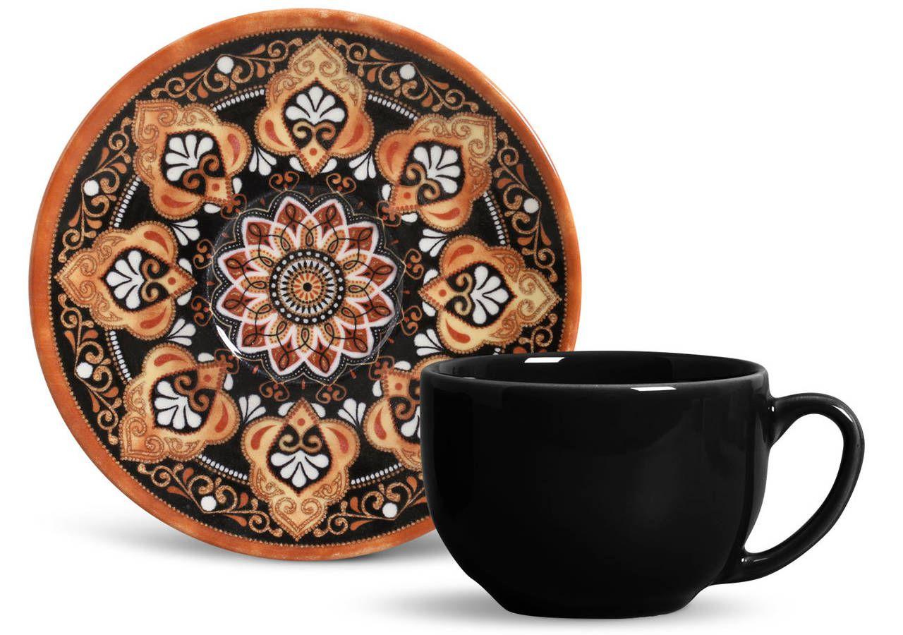Aparelho de Chá Porto Brasil Damasco - 12 Peças