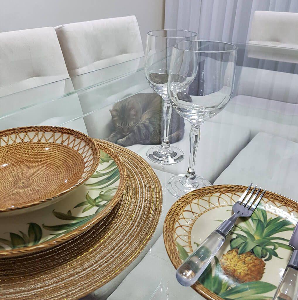 Aparelho de Jantar 30 peças Abacaxi Pineapple Natural Porto Brasil