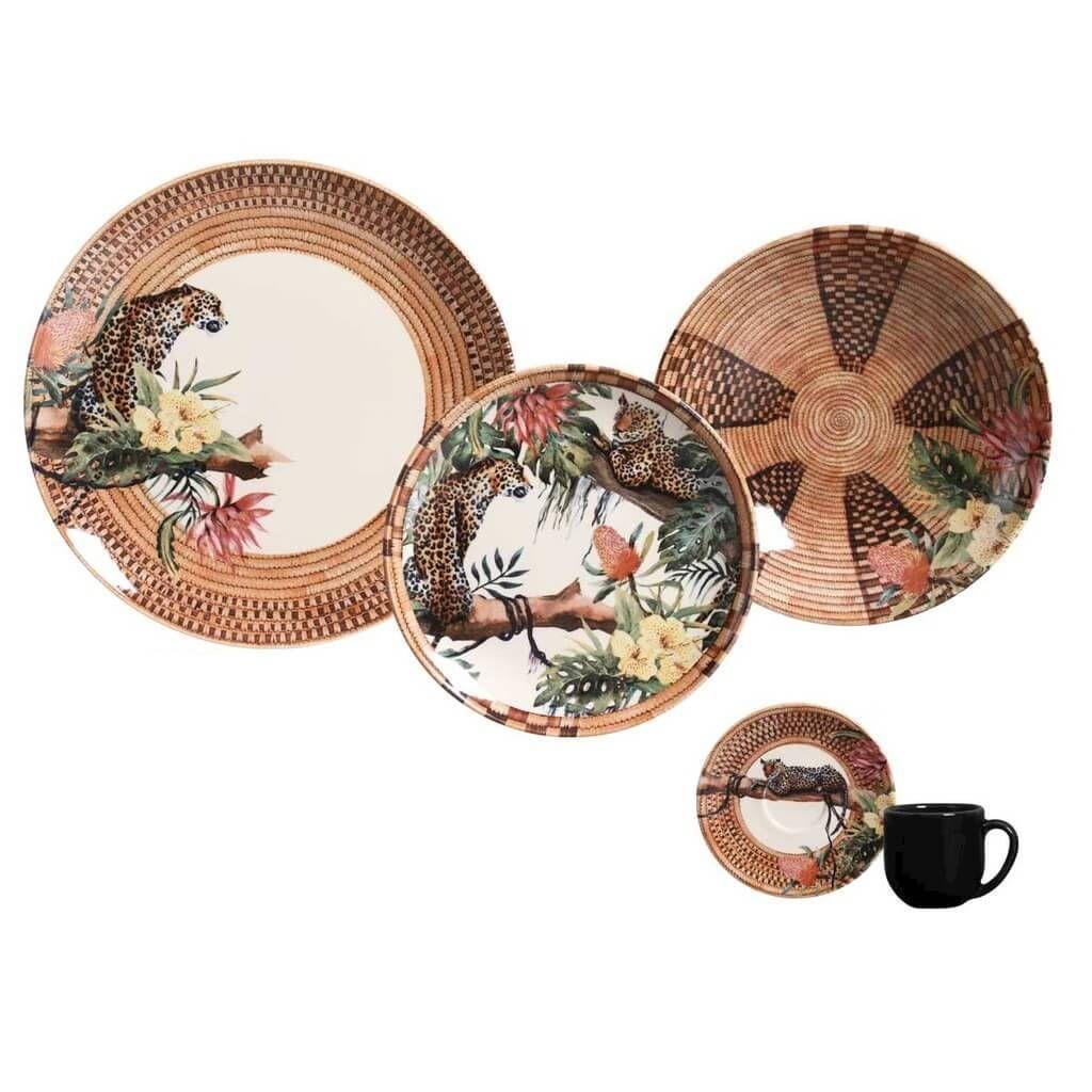 Aparelho de Jantar 30 peças Porto Brasil Pantanal - Xícaras de Cafezinho