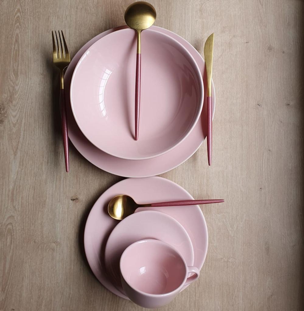 Aparelho de Jantar 30 Peças Rosa Oxford Milenial 6 Lugares