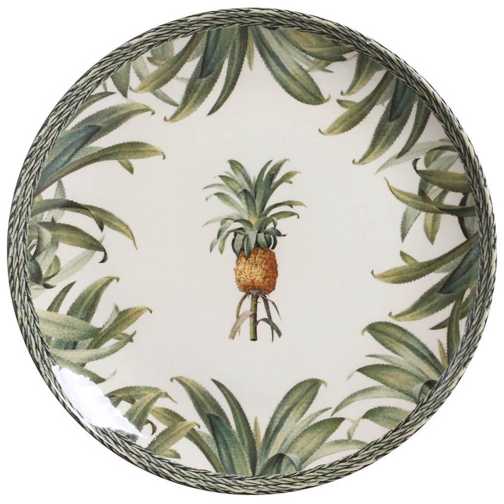Aparelho de Jantar Abacaxi Pineapple Green Porto Brasil 42 Peças
