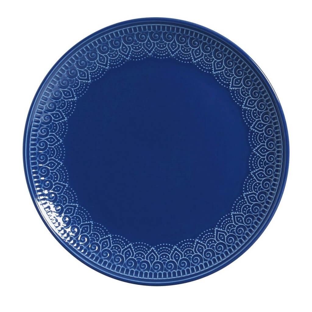 Aparelho de Jantar Azul Navy 42 Peças Agra Porto Brasil