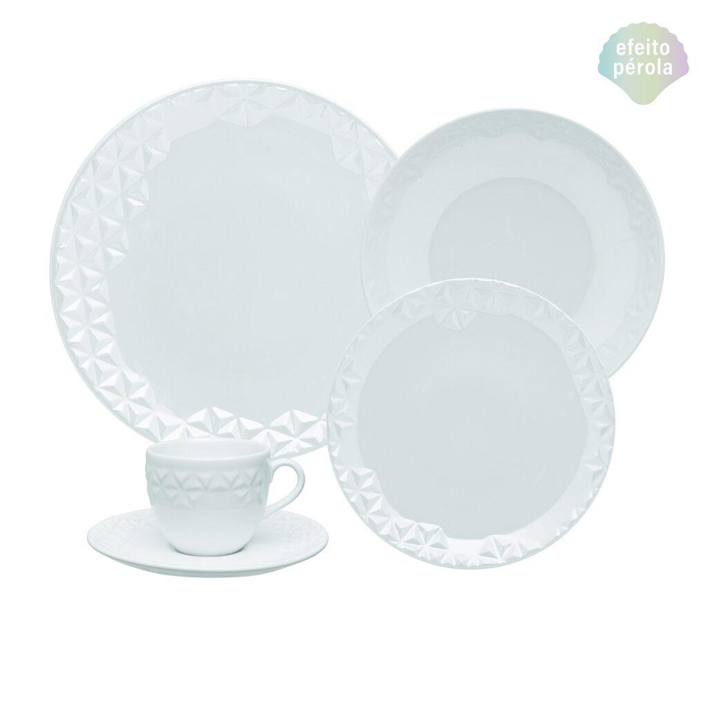 Aparelho de Jantar em Porcelana 20 Peças Oxford Mia - 4 Lugares