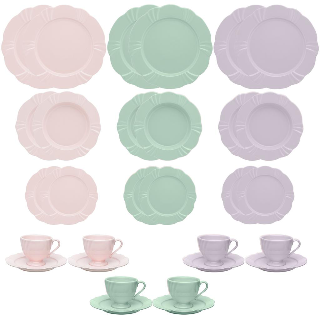 Aparelho de Jantar em Porcelana 30 Peças Oxford Soleil - 6 Lugares