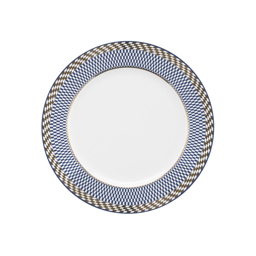 Aparelho de Jantar em Porcelana 42 Peças Oxford Flamingo Op Art - 6 Lugares