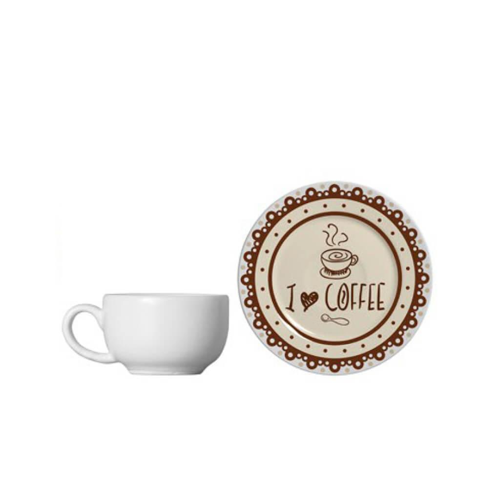 Jogo de Chá e Café Alleanza Coffee 18 Peças